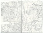 Captain America 24 pg 14-15 Comic Art