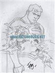 Young Justice vs Teen Titans cover  Comic Art